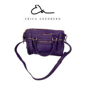 Erica Anenberg Purple Leather Handbag